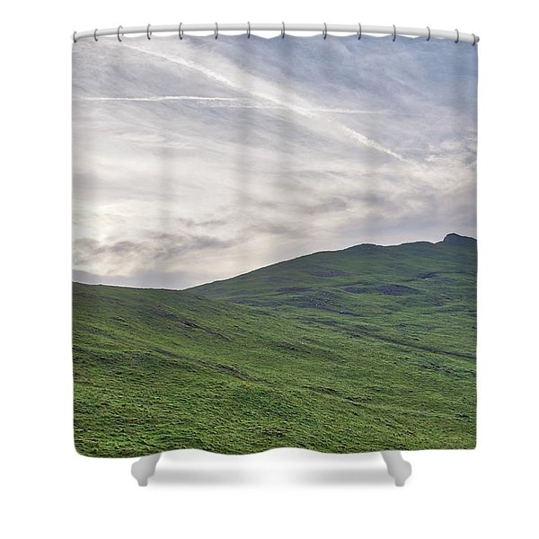 Shower Curtain featuring the photograph Clouds Over Thorpe Cloud by Scott Lyons