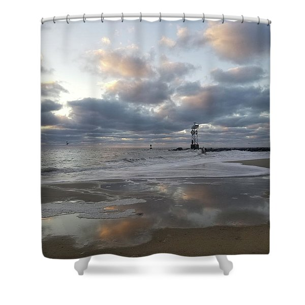 Cloud's Reflections At The Inlet Shower Curtain