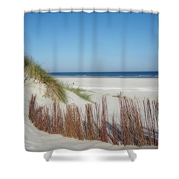 Shower Curtain featuring the photograph Coast Ameland by Anjo Ten Kate