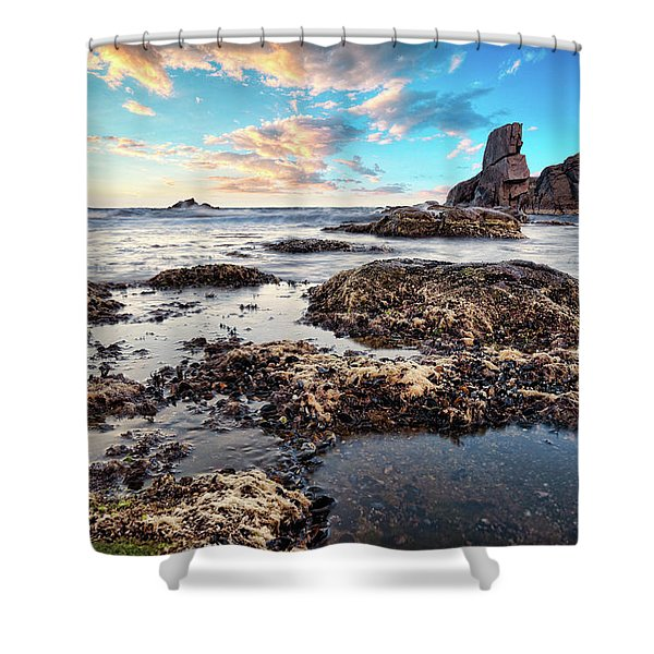Shower Curtain featuring the photograph Coast At Sozopol, Bulgaria by Milan Ljubisavljevic