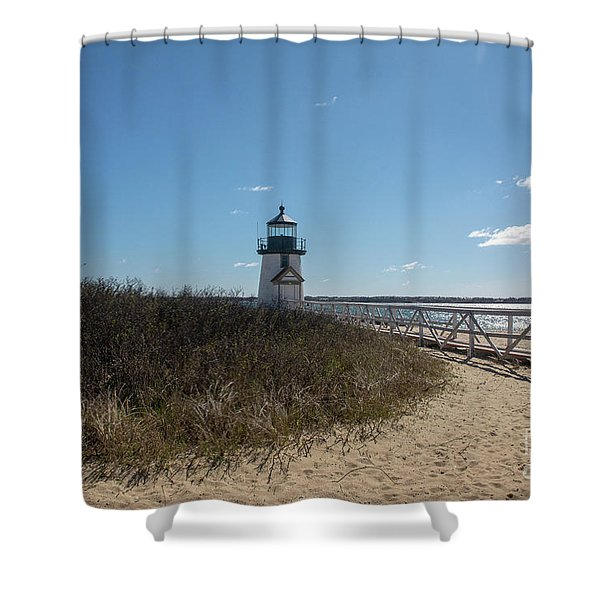Coastal Brant Light House Shower Curtain