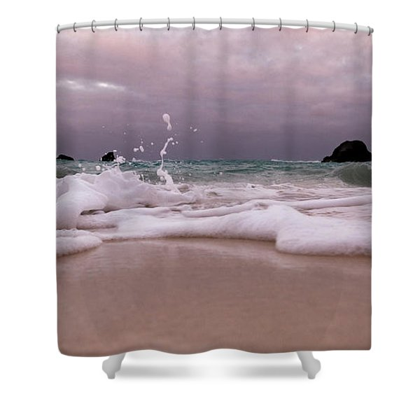 Coastal Splash Intrigue Bermuda  Shower Curtain