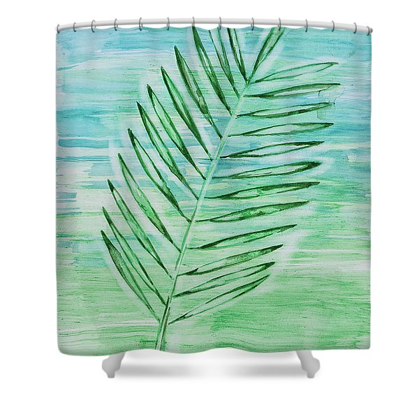 Coconut Leaf Shower Curtain