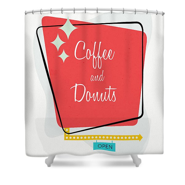 Coffee And Donuts- Art By Linda Woods Shower Curtain