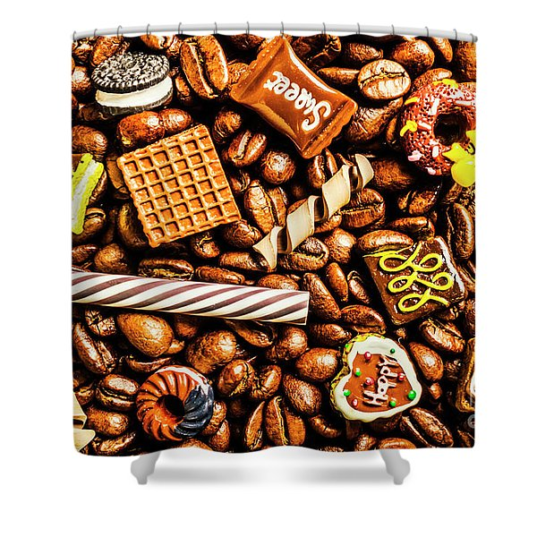 Coffee Candy Shower Curtain
