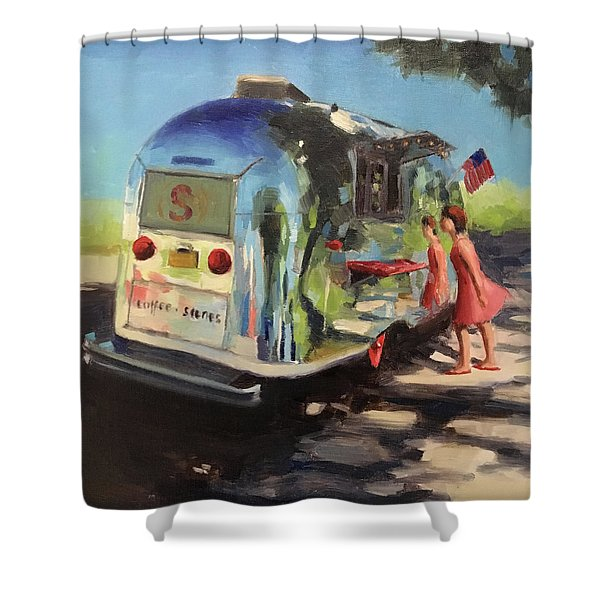 Coffee In The Shade Shower Curtain