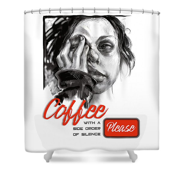 Coffee With A Side Shower Curtain