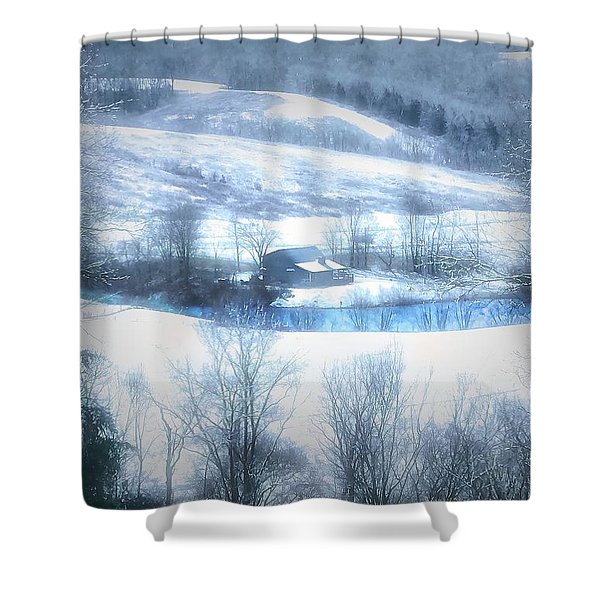 Cold Valley Shower Curtain