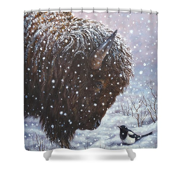 Cold Weather Cohorts Shower Curtain