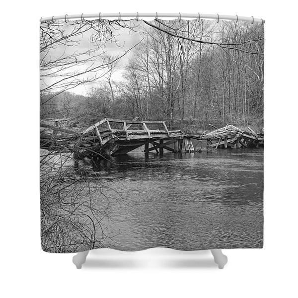 Collapsed Bridge At Waterloo Village Shower Curtain