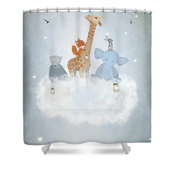 Collecting Stars Shower Curtain