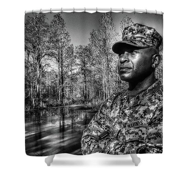 colonel Trimble 2 Shower Curtain