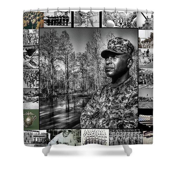 Colonel Trimble Collage Shower Curtain
