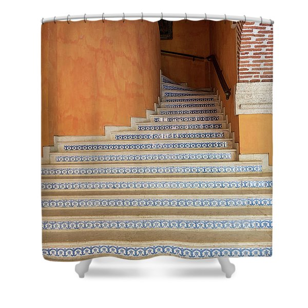 Shower Curtain featuring the photograph Colonial Stairs by Juan Contreras