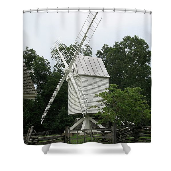 Colonial Williamsburg White Mill Shower Curtain