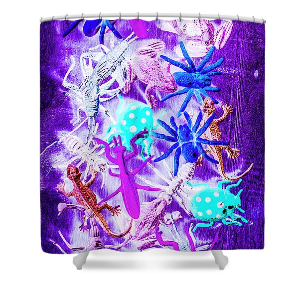 Color Faunae Shower Curtain