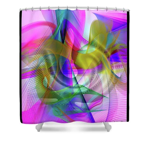 Shower Curtain featuring the digital art Color Full by Visual Artist Frank Bonilla