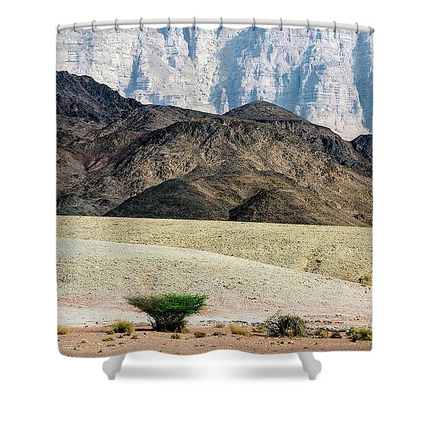 Color Layers In The Desert Shower Curtain