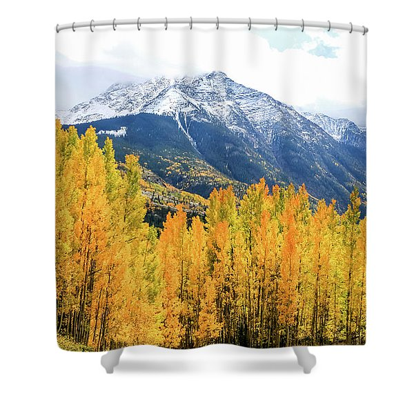 Colorado Aspens And Mountains 2 Shower Curtain