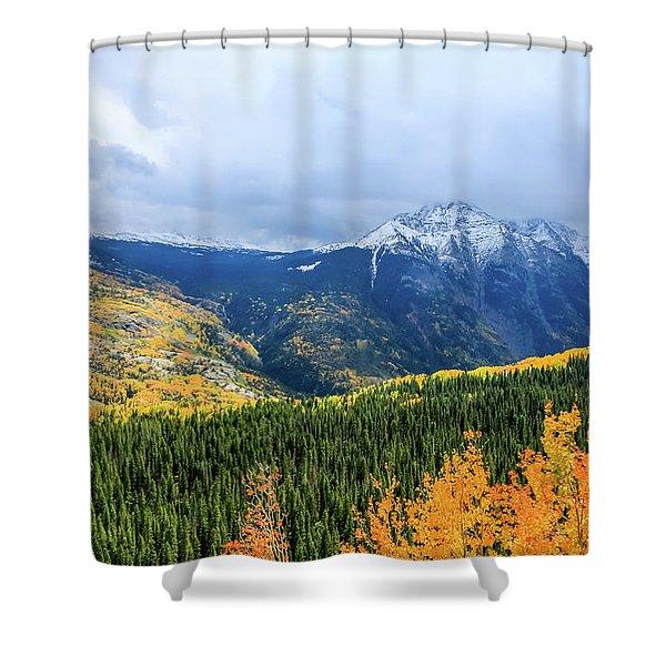 Colorado Aspens And Mountains 3 Shower Curtain