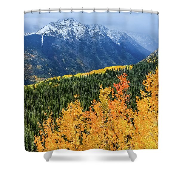 Colorado Aspens And Mountains 4 Shower Curtain