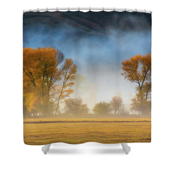 Colorado Autumn Fog Shower Curtain