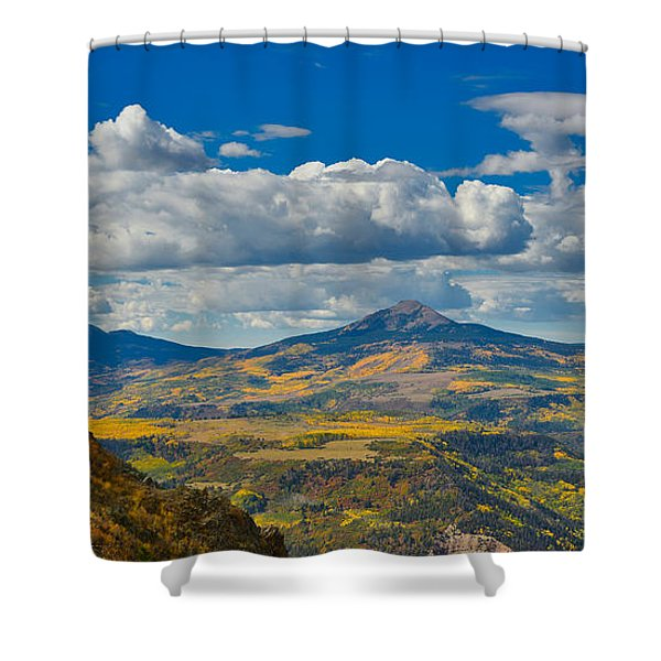 Shower Curtain featuring the photograph Colorado Fall by Tom Gresham