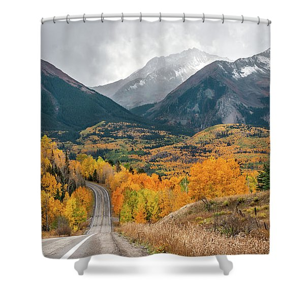 Colorado Hwy 145 Shower Curtain