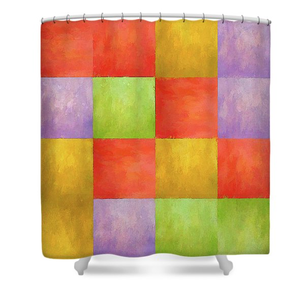Colored Tiles Shower Curtain