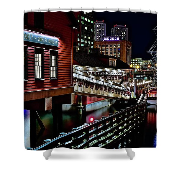 Colorful Boston Museum Shower Curtain