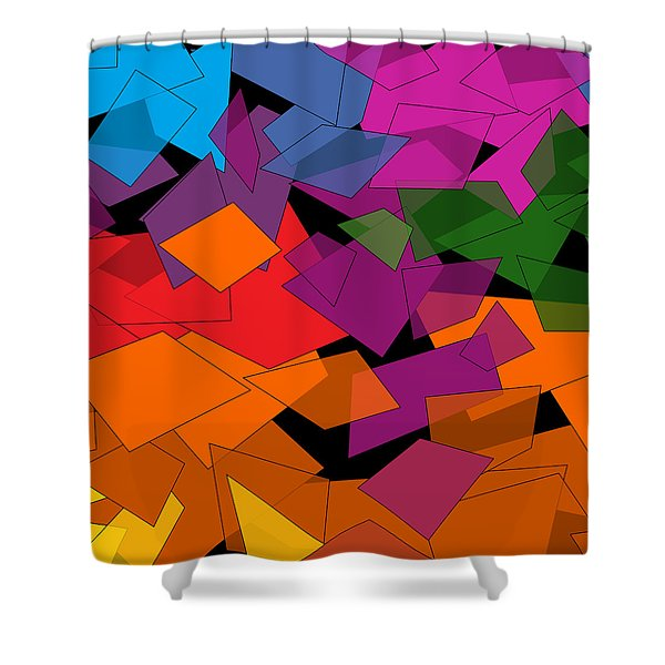 Colorful Chaos Shower Curtain