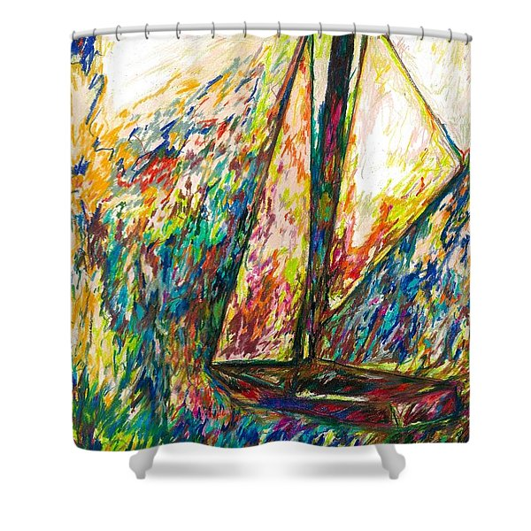 Colorful Day On The Water Shower Curtain