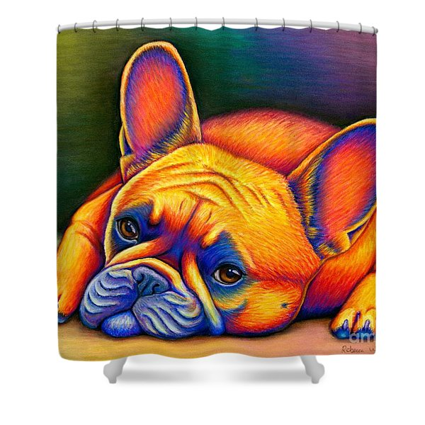 Daydreamer - Colorful French Bulldog Shower Curtain