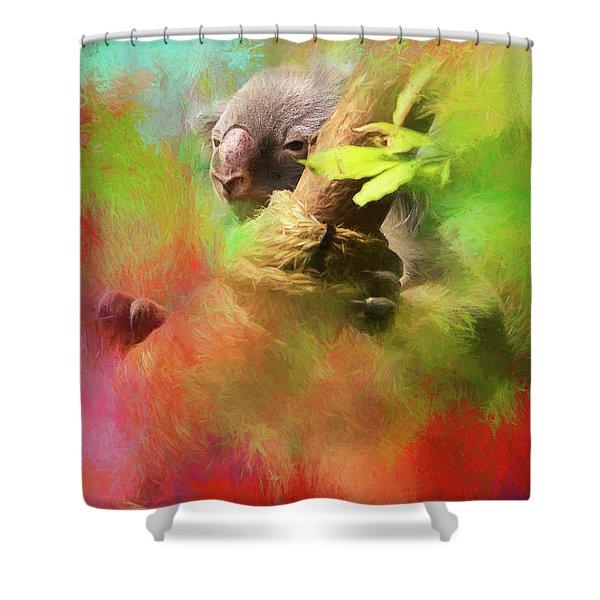 Colorful Koala Shower Curtain