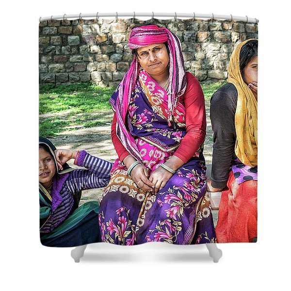 Colorful Ladies Shower Curtain