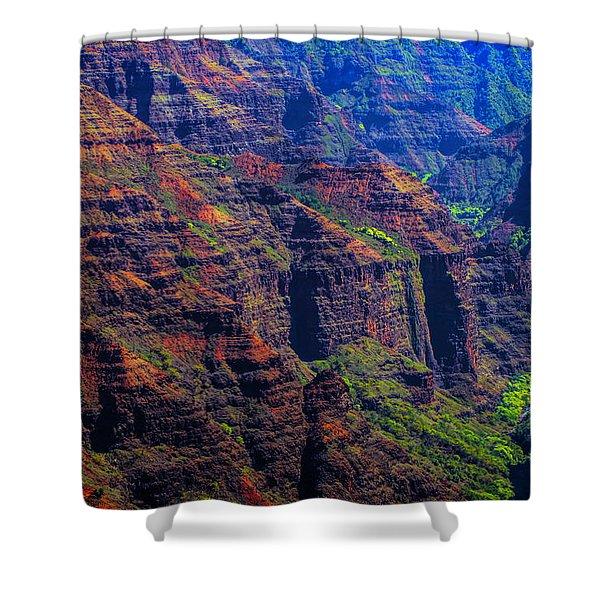 Colorful Mountains Of Kauai Shower Curtain
