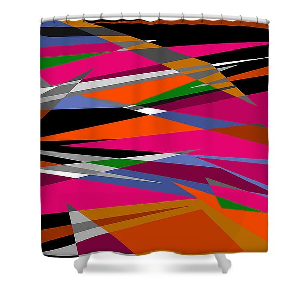 Colorful Reaction Shower Curtain