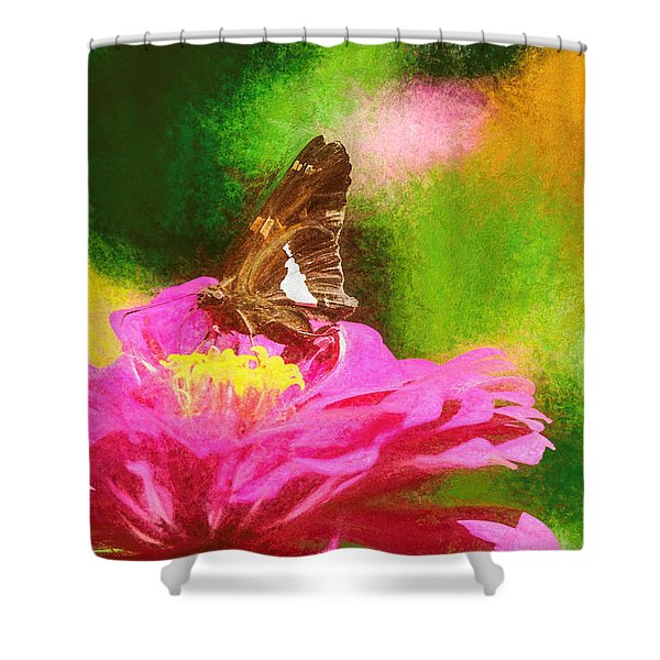 Colorful Silver Spotted Skipper Butterfly Shower Curtain