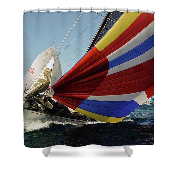 Colorful Spinnaker Run Shower Curtain