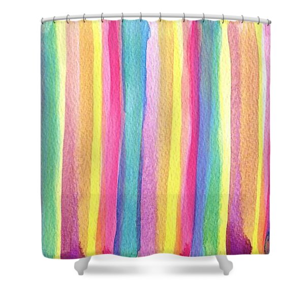 Colorful Striped Shower Curtain