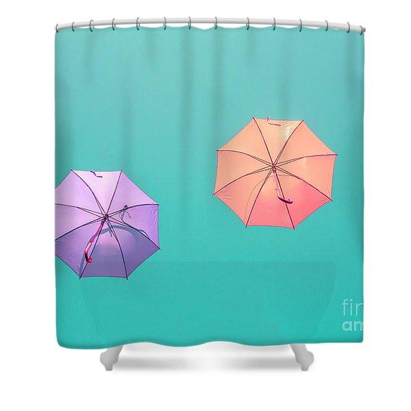 Colorful Umbrellas Shower Curtain