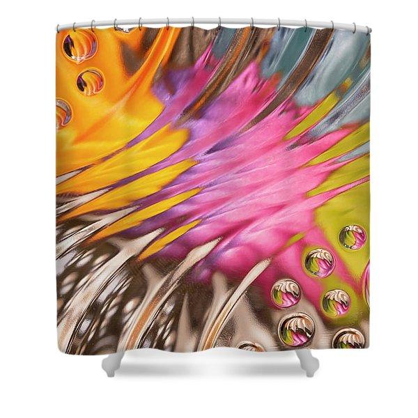 Colors In Vitro 2 Shower Curtain