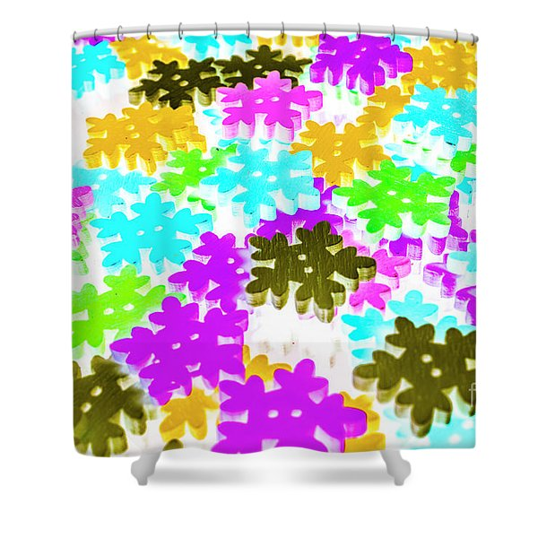 Colors Of Frost Shower Curtain