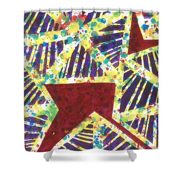Colourful Webs  Shower Curtain