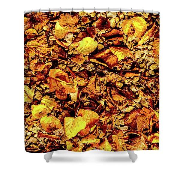 Colours. Autumn Gold Shower Curtain