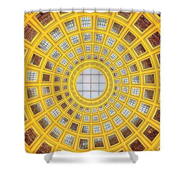 Colours. Gold Shower Curtain