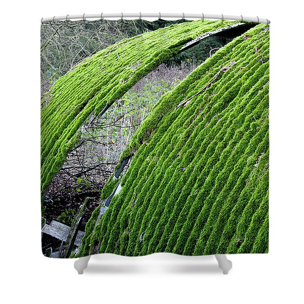 Colours. Green Shower Curtain