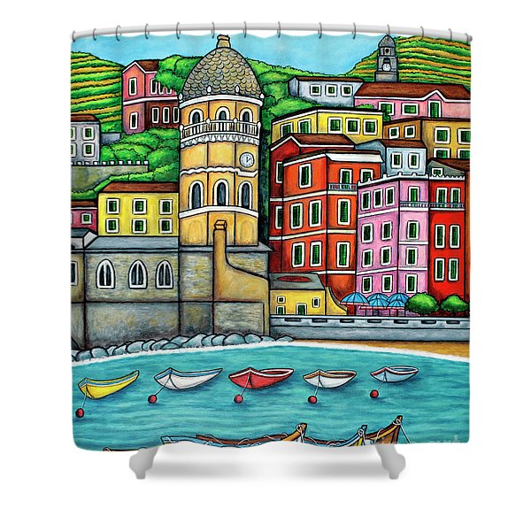Colours Of Vernazza Shower Curtain