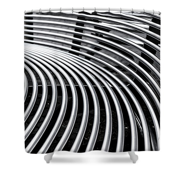 Colours. Silver Shower Curtain