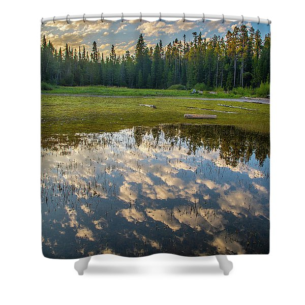Colter Bay Reflections Shower Curtain